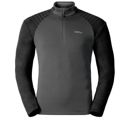 Midlayer 1/2 zip PACT, odlo graphite grey - black, large