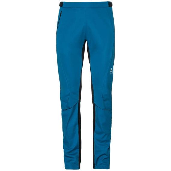 Pants AEOLUS windstopper®, mykonos blue - black, large
