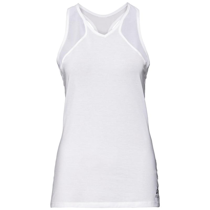 LOU MESH Baselayer Top, white, large