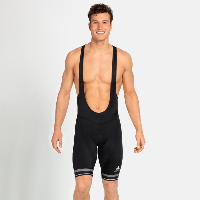 Fuseaux corti da ciclismo con bretelle Zeroweight Dual Dry da uomo, black, large
