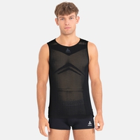 Men's PERFORMANCE BREATHE X-LIGHT Cycling Sports-Underwear Singlet, black, large