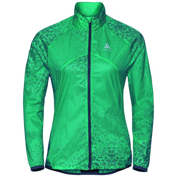 Jacket OMNIUS, pool green - AOP SS18, large