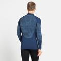 Men's BLACKCOMB Half-Zip Turtleneck Baselayer, estate blue, large