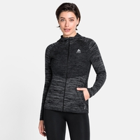 Women's MILLENNIUM PRO Running Jacket, black - odlo graphite grey - odlo steel grey, large