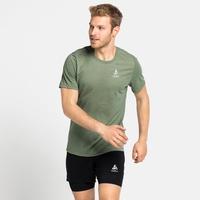 Men's MILLENNIUM LINENCOOL T-Shirt, matte green melange, large
