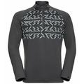 Herren PAZOLA RIBBON Midlayer-Oberteil, odlo graphite grey - graphic FW20, large