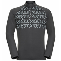 Men's PAZOLA RIBBON Half-Zip Midlayer Top, odlo graphite grey - graphic FW20, large