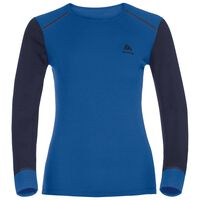 Active Originals Warm langärmeliges Shirt mit Rundhalsausschnitt, lapis blue - peacoat, large