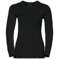 Natural 100 Merino Warm baselayer shirt women, black, large