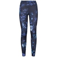 ELEMENT LIGHT Tights, diving navy - flower AOP SS19, large