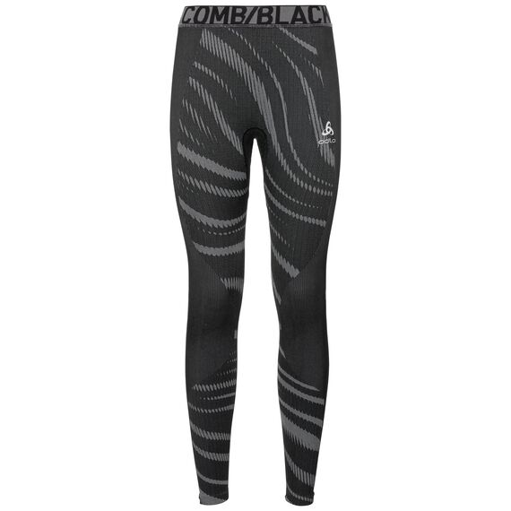 SUW Bottom PERFORMANCE BLACKCOMB Hose, black - odlo concrete grey, large