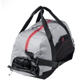 Bolsa TRAINING-34 Liters, grey melange - chinese red, large