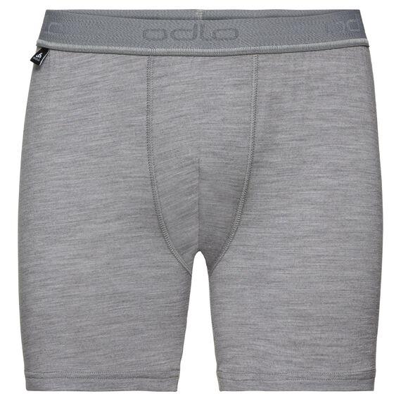 SUW Bottom Boxer NATURAL 100% MERINO WARM, grey melange, large