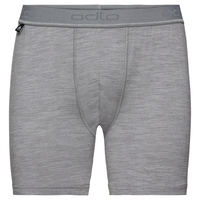 SUW Bottom NATURAL 100 % MERINO WARM Boxershorts, grey melange, large