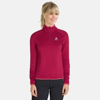 Mid Layer 1/2 zip CARVE Warm, rumba red, large