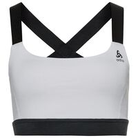 Sports Bra BACK TO GYM, white - black, large