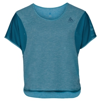 BL TOP cropped crew neck s/s MAIA, crystal teal, large