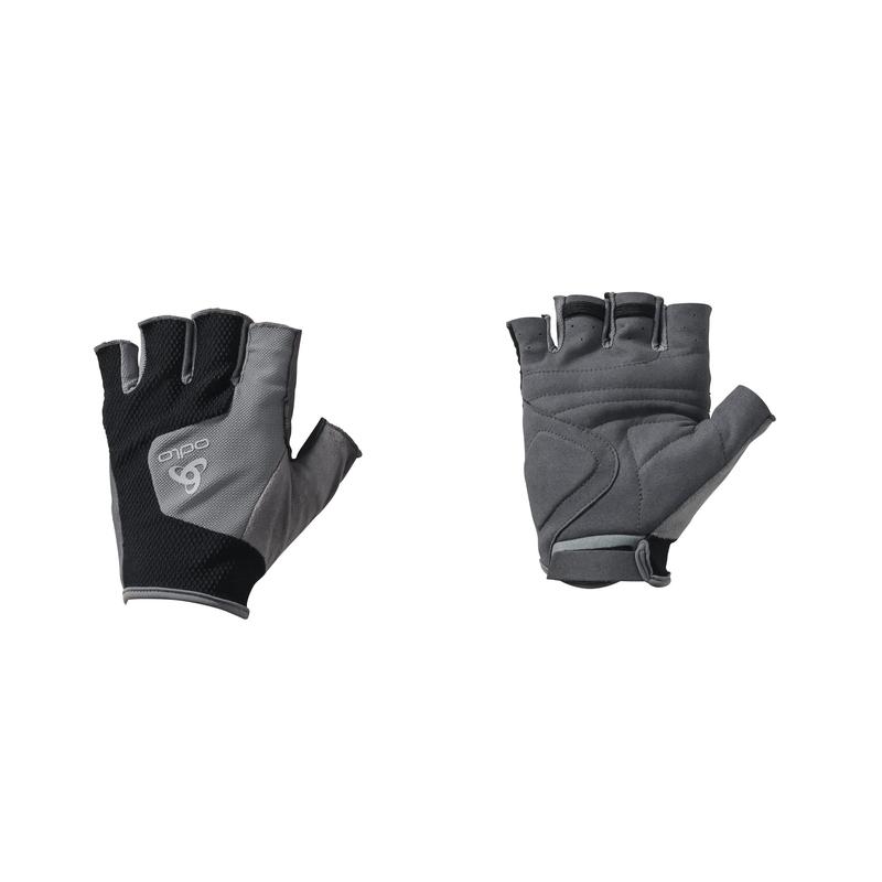 Gloves short PERFORMANCE, odlo steel grey - black, large