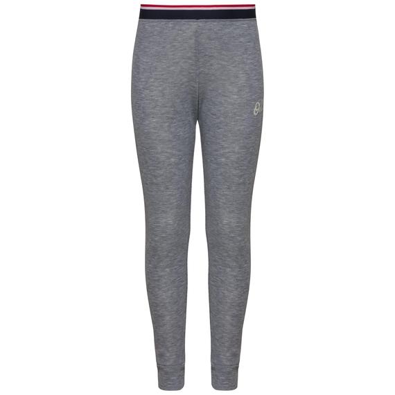 ACTIVE WARM ORIGINALS KIDS Base Layer Pants, grey melange - placed print FW19, large