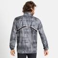 Herren ZEROWEIGHT AOP Jacke, odlo steel grey - graphic FW20, large
