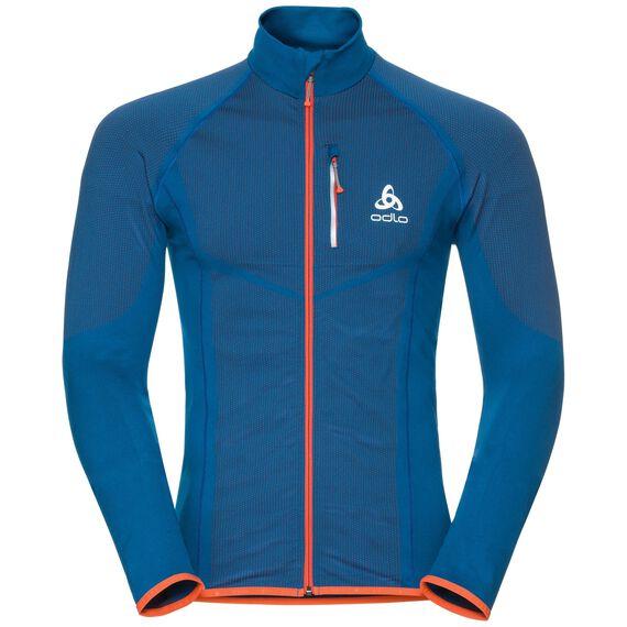 Jacket VELOCITY Light, mykonos blue - orangeade, large