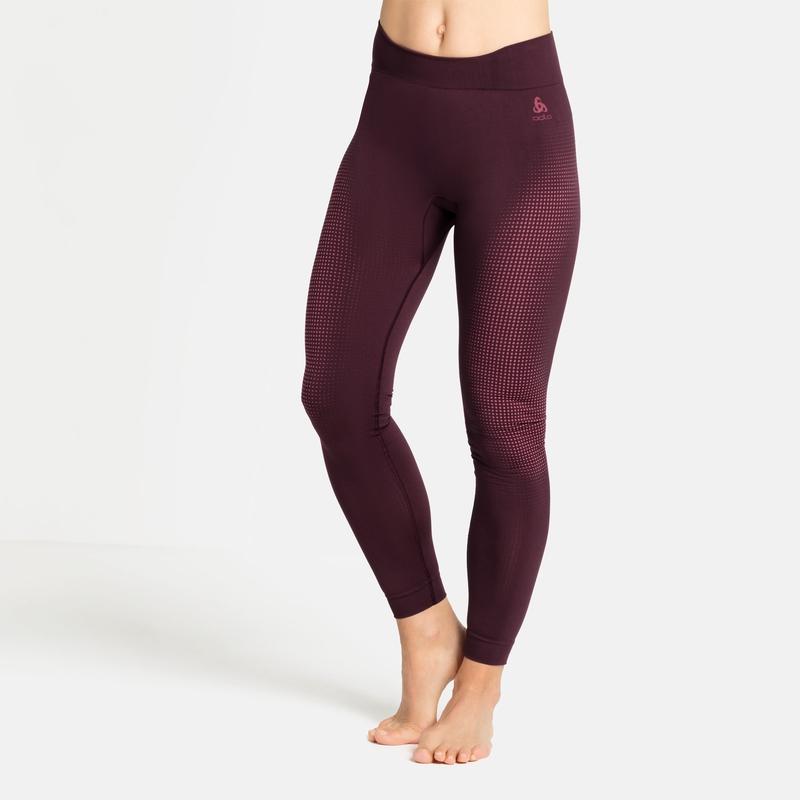 Women's PERFORMANCE WARM ECO Base Layer Pants, winetasting - deep claret, large