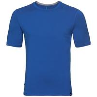 BL TOP Girocollo m/c NIKKO 100% MERINO PRINT, energy blue with fading stripes print, large