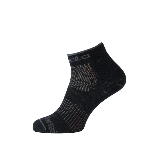 Socks short NATURAL+ CERAMIWOOL OUTDOOR, odlo steel grey - black, large