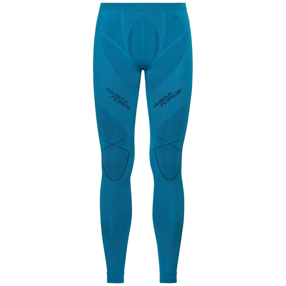 SVS Bas collant Performance MUSCLE FORCE RUNNING Warm, blue jewel - poseidon, large