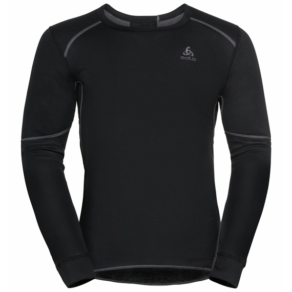 Men's ACTIVE X-WARM ECO long-sleeve Baselayer Top, black, large