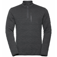 Top midlayer con mezza zip CORVIGLIA KINSHIP da uomo, odlo graphite grey, large