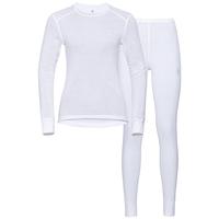 Women's ACTIVE WARM Base Layer Set, white, large