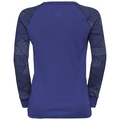 Maglia Base Layer a manica lunga ACTIVE WARM TREND KIDS per bambini, clematis blue - grey melange - AOP FW19, large