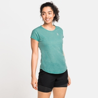 Damen MILLENNIUM LINENCOOL T-Shirt, jaded melange, large