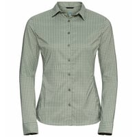 Damen KUMANO CHECK Bluse, matte green - sea foam, large