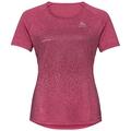 Women's MILLENNIUM ELEMENT PRINT T-Shirt, cerise melange - placed print FW19, large