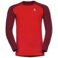 SUW Top Active Revelstoke Warm langärmeliges Oberteil mit Rundhalsausschnitt, syrah - fiery red, large