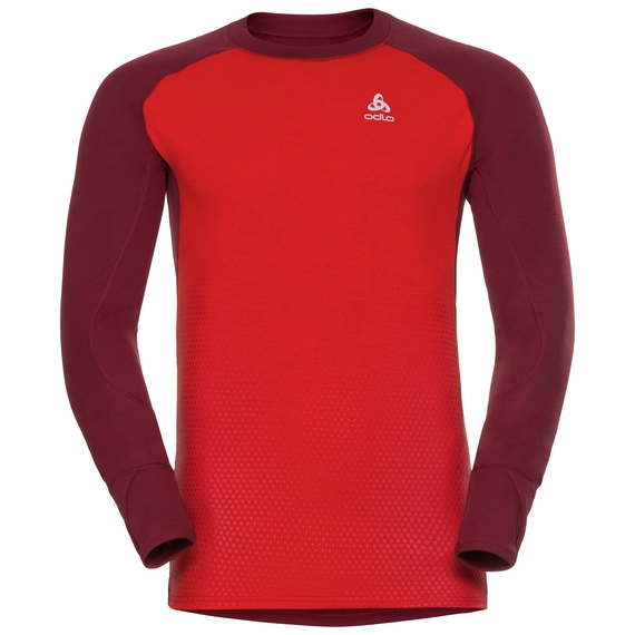 SUW Top Crew neck l/s ACTIVE  Revelstoke Warm, syrah - fiery red, large