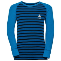 ACTIVE WARM KIDS Funktionsunterwäsche Langarm-Shirt, directoire blue - black - stripes, large