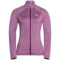 Midlayer full zip Pazola Flex Fleece, magenta purple melange, large