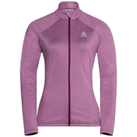 Midlayer full zip Pazola Flex Fleece, magenta purple melange, large