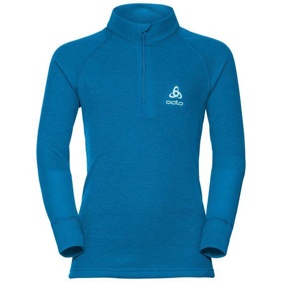 SUW Top Turtle neck 1/2 zip l/s ACTIVE ORIGINALS Warm Kids, mykonos blue, large