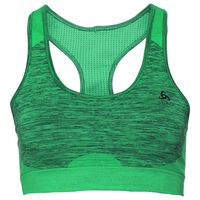 Sports Bra SEAMLESS MEDIUM, pool green - diving navy, large