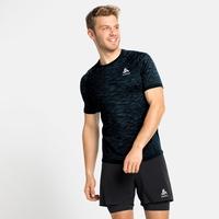 T-shirt de Running BLACKCOMB CERAMICOOL pour homme, black - space dye, large