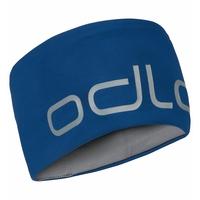CERAMIWARM REVERSIBLE Headband, estate blue - odlo steel grey, large