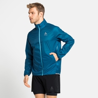 Men's ZEROWEIGHT DUAL DRY WATER-RESISTANT Jacket, mykonos blue, large