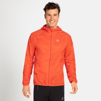 Herren WISP WINDPROOF Jacke, mandarin red, large
