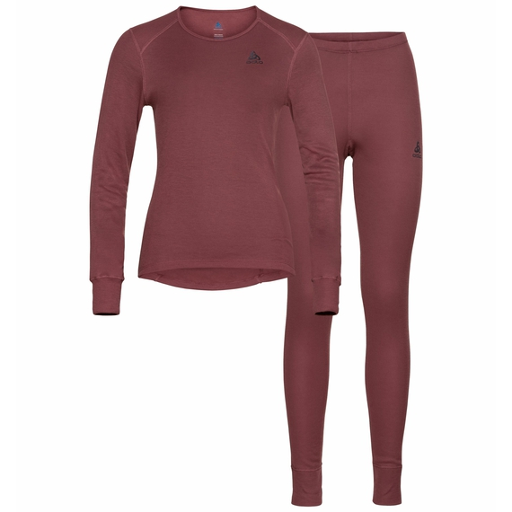 Women's ACTIVE WARM ECO Baselayer Set, roan rouge, large