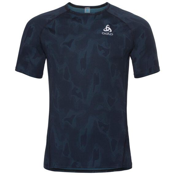 Basislaag top met Ronde hals k/m Vigor, blue coral - black, large