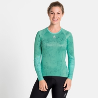 Women's ZEROWEIGHT CERAMIWARM Cycling Baselayer Top, cockatoo - graphic FW20, large